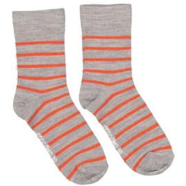 Geggamoja - wollen sokken (oranje/grijs)