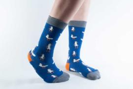 Doris & Dude sokken - Donkerblauwe zeemeeuwen