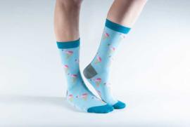 Doris & Dude sokken - flamingo's