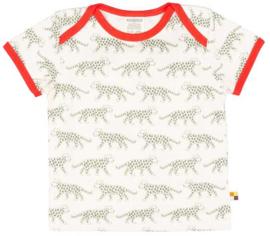 Loud+Proud tshirt - olijf luipaarden