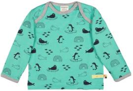 Loud+Proud wintershirt - jade met pooldieren