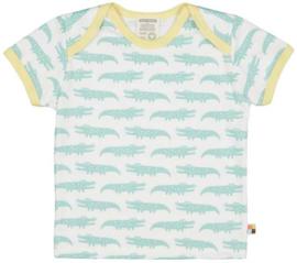 Loud+Proud tshirt - blauwe krokodillen