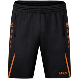 8521-807 Trainingsshort Challenge Zwart fluo oranje