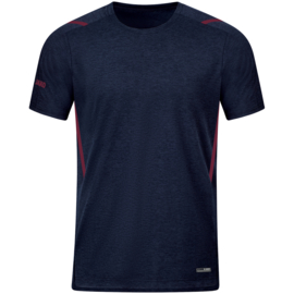 6121-513 T-shirt Challenge Marine gemeleerd kastanje