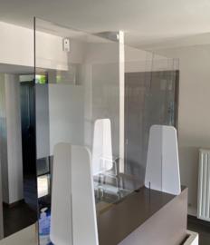 Transparant beveiligingsscherm 90(H)x110(B) cm