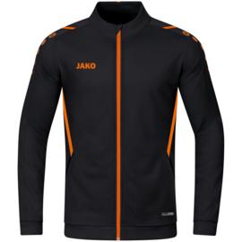 9321-807 Polyestervest Challenge Zwart fluo oranje