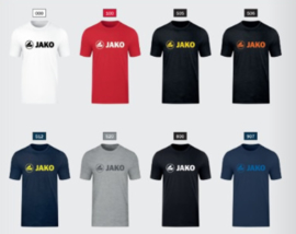 Bio katoen T-shirt  promo met borstlogo Jako (dames, heren, kids)