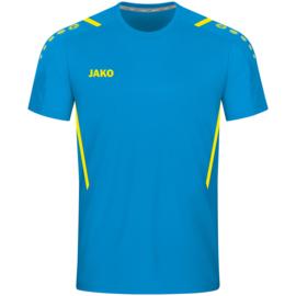 4221-443 Sportshirt Challenge Jakoblauw fluogeel
