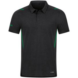 6321-503 Polo Challenge Zwart gemeleerd sportgroen