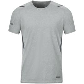6121-521 T-shirt Challenge Lichtgrijs gemeleerd antra light