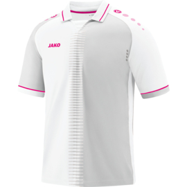 Shirt Competition 2.0 KM wit-pink
