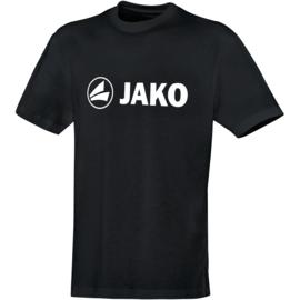 Katoenen T-shirt promo  zwart (kids, unisex)