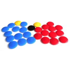 Reservemagneten voor tactiekbord