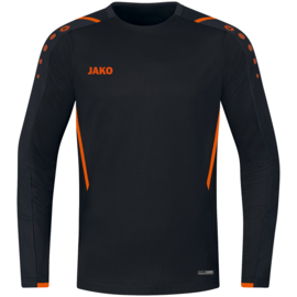 8821-807 Sweaters Challenge Zwart fluo oranje