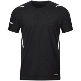 6121-501 T-shirt Challenge Zwart gemeleerd wit