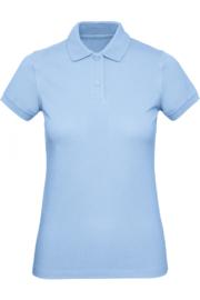 CGPW440 Polo Organic dames - Hemelsblauw