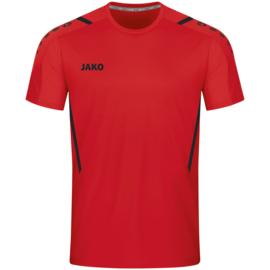 4221-101 Sportshirt Challenge Rood zwart