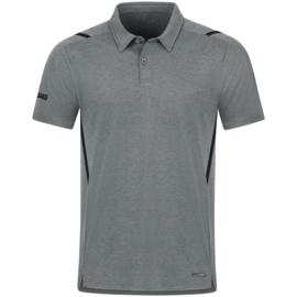 6321-531 Polo Challenge Steengrijs gemeleerd zwart