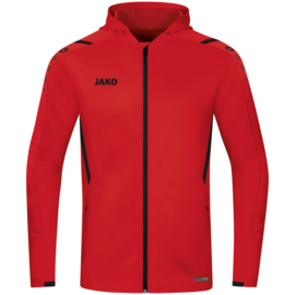 6821-101 Jas met kap Challenge Rood zwart