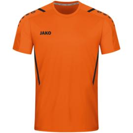 4221-351 Sportshirt Challenge Fluo oranje zwart