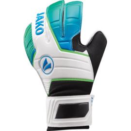Keeperhandschoen Champ Basic Junior RC wit-JAKO blauw-fluo groen