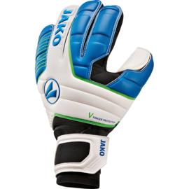 Keeperhandschoen Champ Giga WRC Protection wit-JAKO blauw-fluo groen