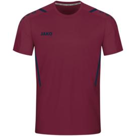4221-132 Sportshirt Challenge Kastanje marine