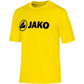 Functioneel  sportshirt promo geel (kids, unisex)