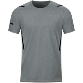 6121-531 T-shirt Challenge Steengrijs gemeleerd zwart