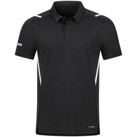 6321-501 Polo Challenge Zwart gemeleerd wit