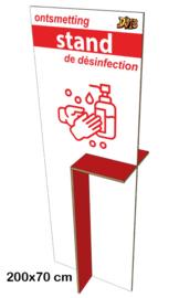 Winkelstand voor ontsmetting (kleuren en opdruk personaliseerbaar)