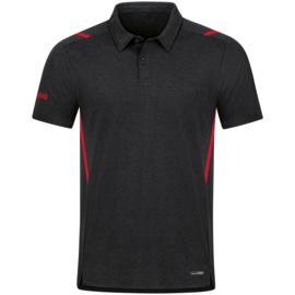 6321-502 Polo Challenge Zwart gemeleerd rood