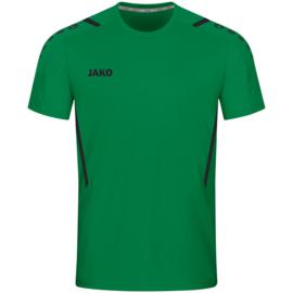 4221-201 Sportshirt Challenge Sportgroen zwart