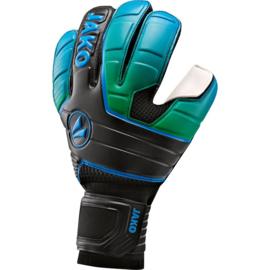 Keeperhandschoen Champ SuperSoft  Regular cut RC zwart-fluo groen-JAKO blauw