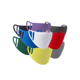 Herbruikbare gekleurde mondmaskers