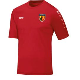 Sportshirt rood (personalisatie mogelijk)