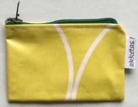 Portemonnee gecoate katoen, 12x8cm