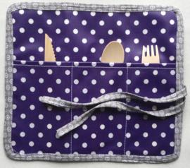 Bestekbag,stof met gecoate katoen,24x22(dicht 8cm)