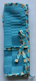 Bestekbag, stof met gecoate katoen,22x22(dicht 8cm).