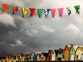 Vlaggetjes voor een klein feestje, 1,5 m met 10 vlaggetjes