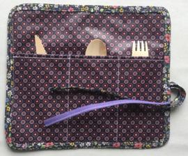 Bestekbag, stof met gecoate katoen, 24x22 (dicht 8cm).