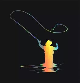 Vliegvisser in laser kleur