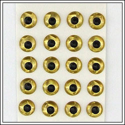 3D Holographic eyes Gold