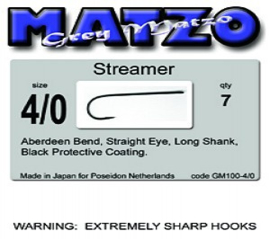 Grey Matzo Streamer hook