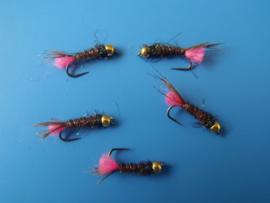 Pinktag pheasant tail BL #16 x 3 stks.