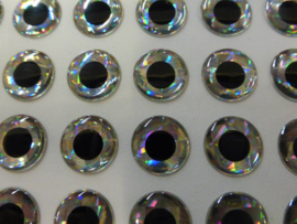 3D Holographic eyes Silver