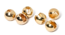 Tungsten slotted gold beads