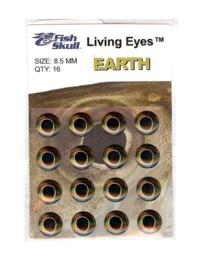 Fish-skull living eyes earth