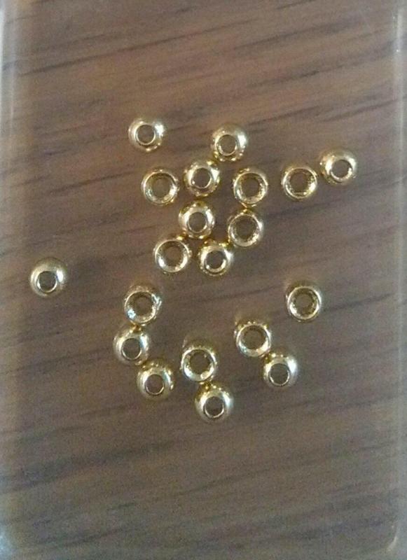 Tungsten gold beads