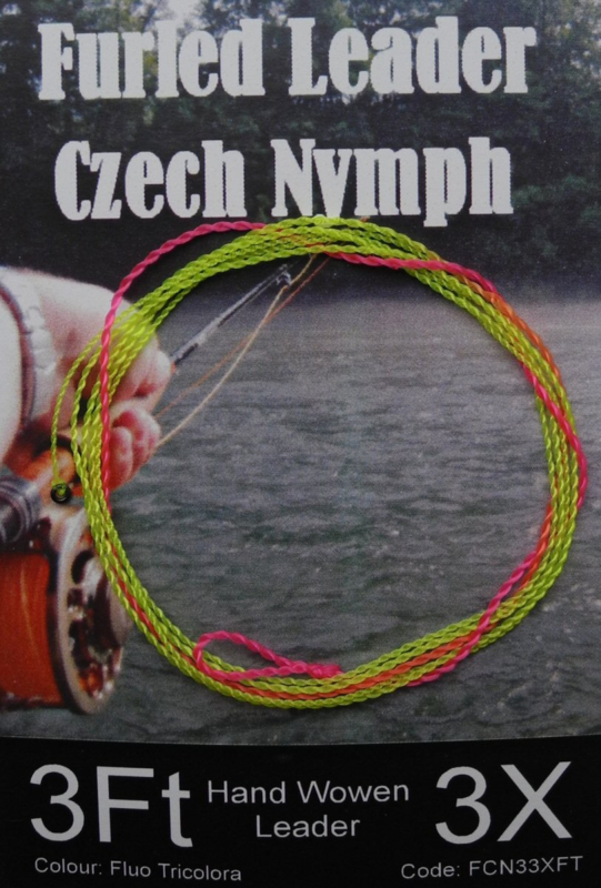Hends furled leader - Czech Nymph tricolor